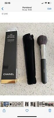 Genuine Chanel Powder Brush Brand New Black With Case And Box - No 1 • 32.99£