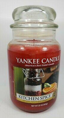 Yankee Candle Glass Jar Scented Kitchen Spice Brand New Large FREE SHIPPING • 24.07£