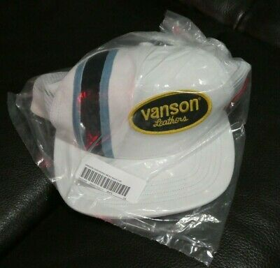 $ CDN128.90 • Buy Supreme X Vanson Leathers - Mesh Back White Leather Logo Hat - S20 - New W/ Tag