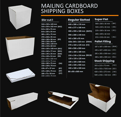 AU23.45 • Buy Mailing Box Cardboard Shipping Packing Mailer Parcel Boxes Small Medium Large