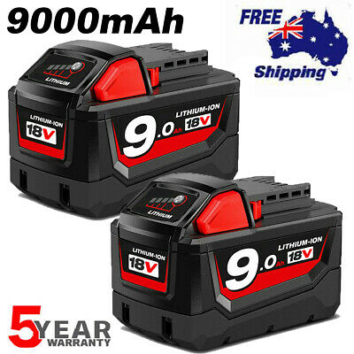 AU118.99 • Buy 18V XC 9Ah Battery For Milwaukee Lithium HD M18 48-11-1850 48-11-1828 48-11-1840