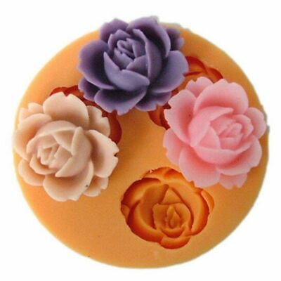 £3.59 • Buy ROSE FLOWER Silicone Fondant Cake Topper Mold Mould Chocolate Candy Baking Tool