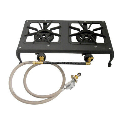 AU75.95 • Buy Rambo LPG 2 Burner Double Cast Iron Country Cooker Gas Stove GB02LP Auscrown
