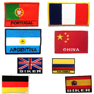 Iron On Patch Flag Application Badge Embroided Patches • 4.49£