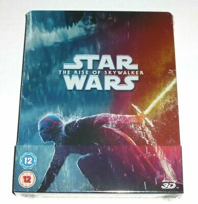 AU62.25 • Buy STAR WARS - The Rise Of Skywalker 3D + 2D Blu Ray Steelbook NEW SEALED UK Seller