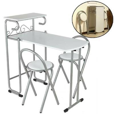 Portable Folding Dining Set Table And 2 Chairs Kitchen Furniture Space Saving UK • 79.99£