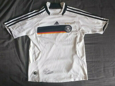 Germany Euro 2008 Home Jersey Adidas White Shirt Size S Football / Soccer Retro • 33£