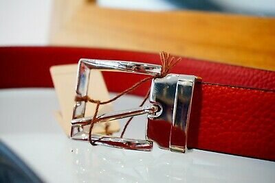 Andersons Red Leather Belt • 39£
