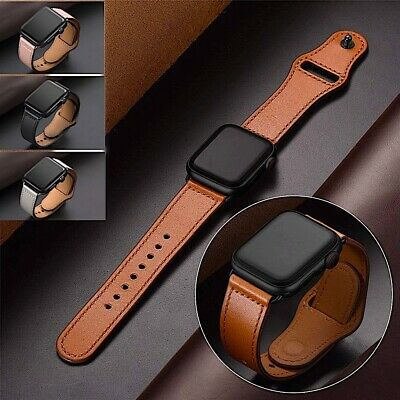 $10.98 • Buy Genuine Leather Apple Watch Band For IWatch Series 6 5 4 3 2 38mm/40mm 42mm/44mm