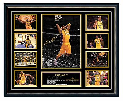 AU99.99 • Buy Kobe Bryant 1978-2020 Tribute La Lakers Signed Photo Framed Memorabilia