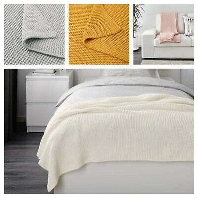 AU59.99 • Buy IKEA Throw Blanket Rug Snuggle Sofa Lounge Couch Bed Warm Soft Cover 130x170 Cm