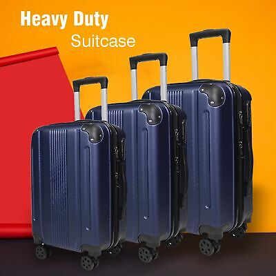 Hard Shell Cabin Large Suitcase With 4 Wheels Lightweight Travel Luggage Trolley • 21.99£