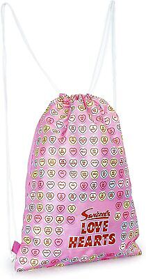 £6.49 • Buy Swizzels Drawstring Bag For Girls Or Womens With Fun Emoji Love Hearts
