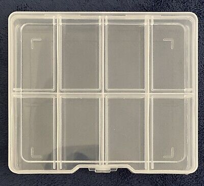 Plastic Storage Craft Organiser Box - 8 Compartment - Pack Of 4 • 5£