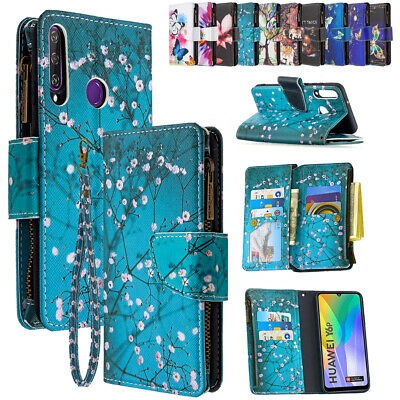 AU11.99 • Buy Case For Huawei PSmart P40 P30 Lite Y5 Y6 Leather Zipper Card Wallet Flip Cover