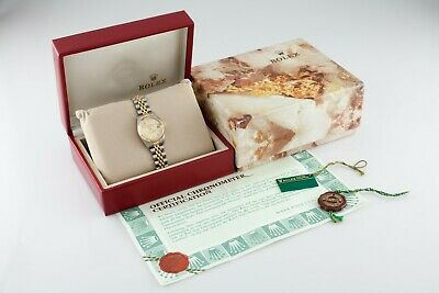 $ CDN6315.43 • Buy Rolex Women's Two-Tone Oyster-Perpetual Datejust Watch W/ Box And Papers 69173
