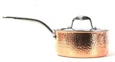 $ CDN149.96 • Buy Lagostina Martellata J3L399165 3 Qt Polished Hammered Copper Stainless Saucepan