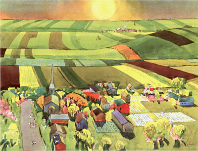 $14.99 • Buy Millard Owen Sheets Litho - Spring In The Midwest - 13 X19