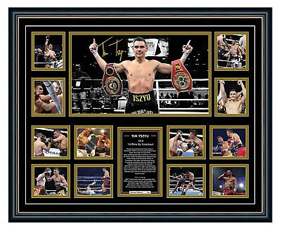 AU99.99 • Buy Tim Tszyu Signed Vs Horn 16-0 Photo Poster Limited Edition Framed Memorabilia