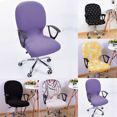 AU9.89 • Buy Swivel Computer Chair Cover Stretch Removable Office Seat Slipcover Protector