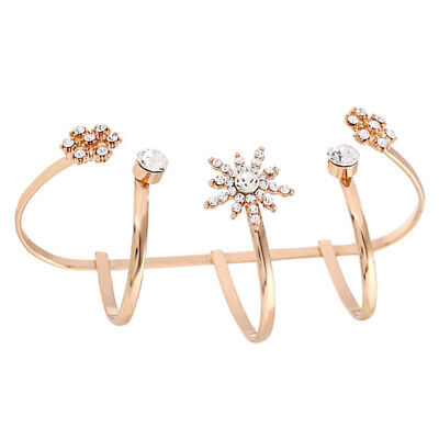 $ CDN10.51 • Buy 2pcs Finger Ring Flower Design Palm Cuff Hand Accessory Palm Ring For Ladies