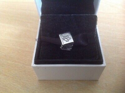 S925 Sterling Silver Plated Graduation Study Books With Owl Bead Charm 33 • 3£