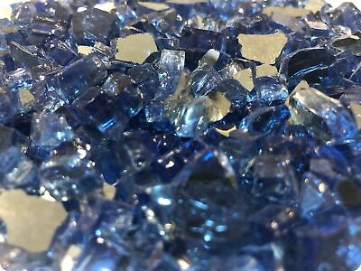 AU19.79 • Buy Sapphire Blue Reflective Crushed Glass   Tempered Glass For Gas Fireplaces & Art