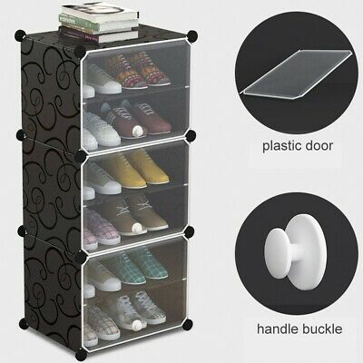AU32.99 • Buy 6 Tire Door Cube DIY Shoe Cabinet Rack Storage Portable Stackable Organiser