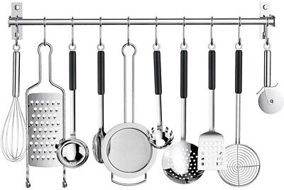 AU18.99 • Buy 304 Stainless Steel Kitchen Utensil Storage Rack Organiser Lid Holder Wall Mount
