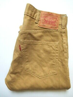 Levi's 519 Jeans Men's Extreme Skinny Fit W32 L30 Mustard Yellow Strauss Levr784 • 32.99£