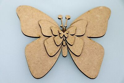 Wooden MDF Butterfly Wall Art Shapes Bunting Craft Christmas Decorate Yourself • 1.31£