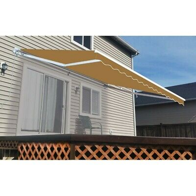 $ CDN381.31 • Buy ALEKO Refurbished 13 X 10 Ft Retractable Home Patio Canopy Awning  Sand Color