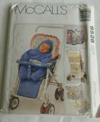 AU8.94 • Buy McCalls 9528 Baby Infant Travel Accessories Stroller Cushion Bunting Uncut