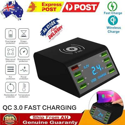 AU41.39 • Buy 8 Multi-Port USB Adapter Desktop Wall Charger Smart Quick Charging Station 3.0 C
