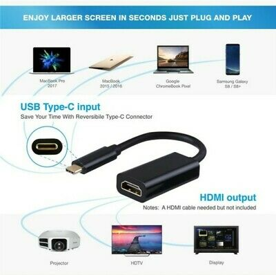 AU7.95 • Buy Type C USB-C 3.1 To HDMI Adapter Cable Converter For MacBook  Samsung 4K 30HZ