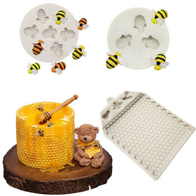 £2.75 • Buy Bee Comb Silicone Mould Cake Decorating Topper Chocolate Baking Mat Border Mold