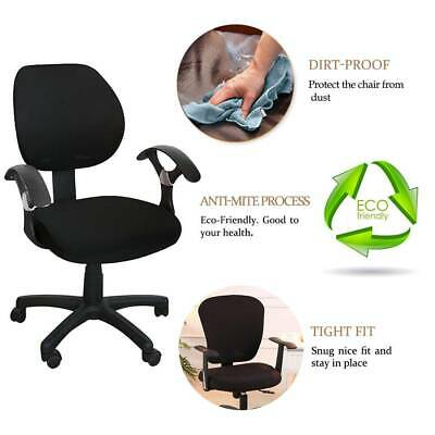 AU14.89 • Buy Office Computer Chair Cover Set Rotating Seat Covers Stretch Slipcover Removable
