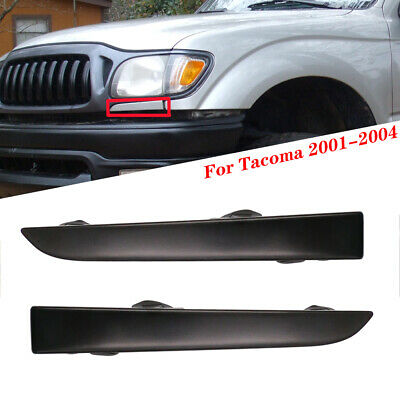 $15.99 • Buy Front Bumper Grille Headlight Filler Trim Panels Set For Toyota Tacoma 2001-2004