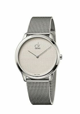 Calvin Klein Minimal Mens Watch With Mesh Strap And Silver Dial K3M2112Y • 132.61£