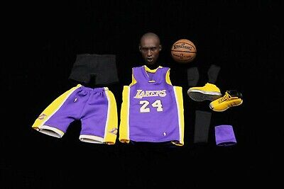 $119.99 • Buy 1/6 Scale NBA Lakers 24 Kobe Bryant Head Sculpt With Jersey Set & Shoes@ENTERBAY