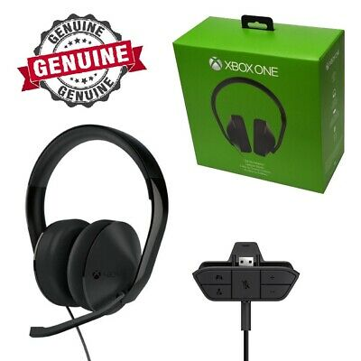 AU98 • Buy Genuine Microsoft XBOX One Stereo Gaming Chat Headset Fits Old & New Controllers