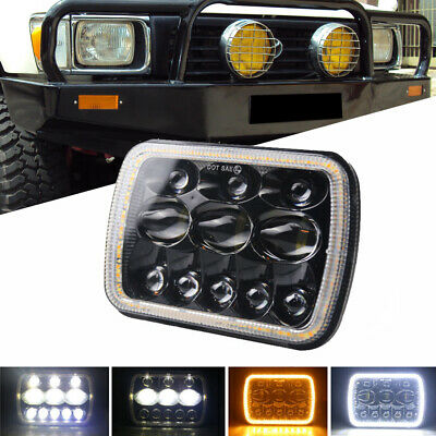 AU57.99 • Buy 5x7'' 7x6'' LED Headlight Hi-Lo Combo Beam Halo DRL For Jeep Cherokee Hilux