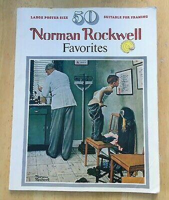 $ CDN13.17 • Buy NORMAN ROCKWELL FAVORITES 50 Large Poster Size Prints Suitable For Framing PB