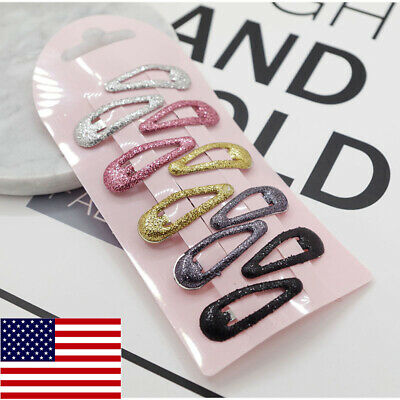 $11.74 • Buy 126Pcs Snap Hair Clips Metal Hair Clip Barrettes Baby Girl Kids Hair Accessories