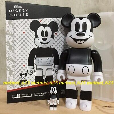 $159.99 • Buy Bearbrick Medicom 2020 Disney Mickey Mouse Black & White 100% 400% Be@rbrick B&W