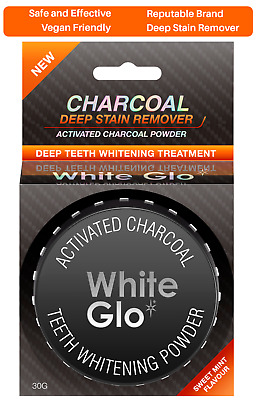 AU7.95 • Buy White Glo Activated Charcoal Teeth Whitening Powder 30g