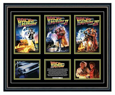 AU99.99 • Buy Back To The Future Trilogy Michael J Fox Posters Signed Framed Memorabilia