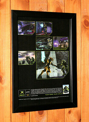 £37.60 • Buy 2002 Halo Combat Evolved Xbox Promo Rare Small Vintage Poster / Ad Art Framed