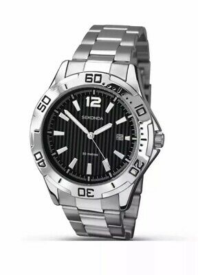 SEKONDA BRAND NEW 1171 Men's Quartz Watch With Two Tone Dial,Bracelet & Gift Box • 21.99£