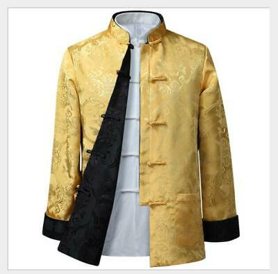 $61.31 • Buy Men's Chinese Traditional Silk Blend Tang Suit Jacket Long Sleeve Leisure Coats